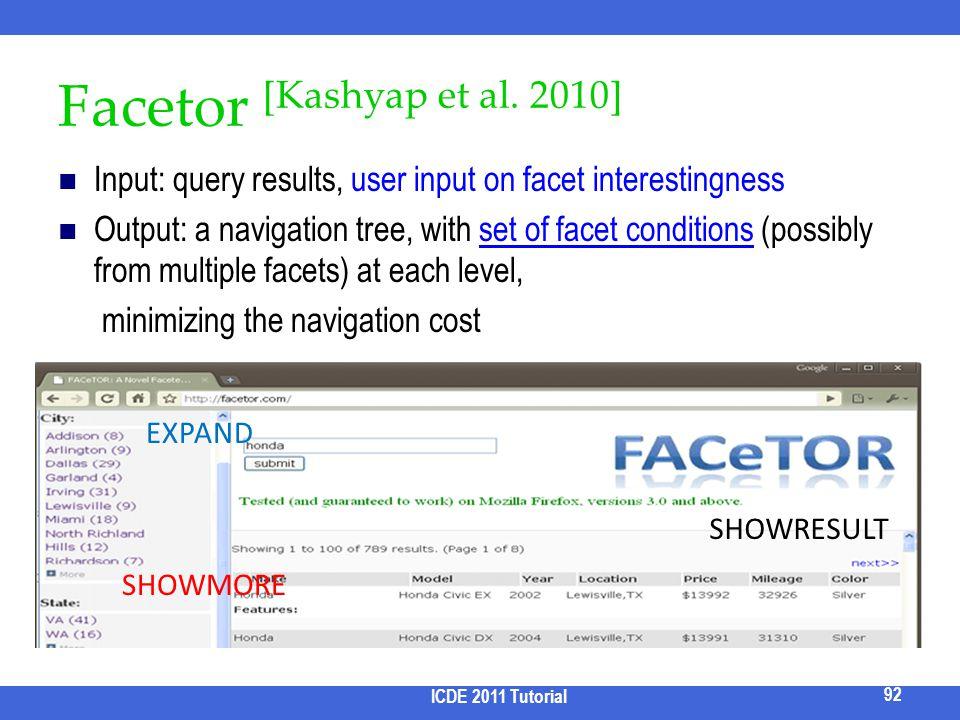 Facetor [Kashyap et al. 2010]